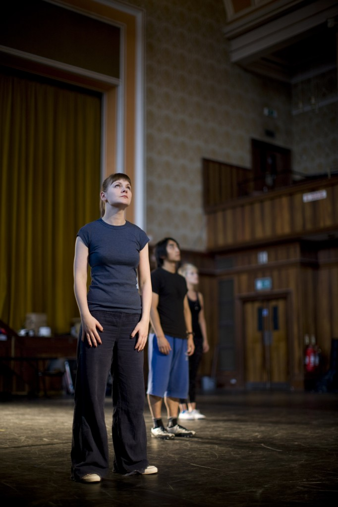 Helen Mallon in rehearsal for the National Theatre of Scotland's 365.