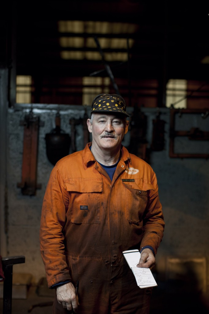 Photograph by Peter Dibdin Photographer of Machinist at Richies of Forfar