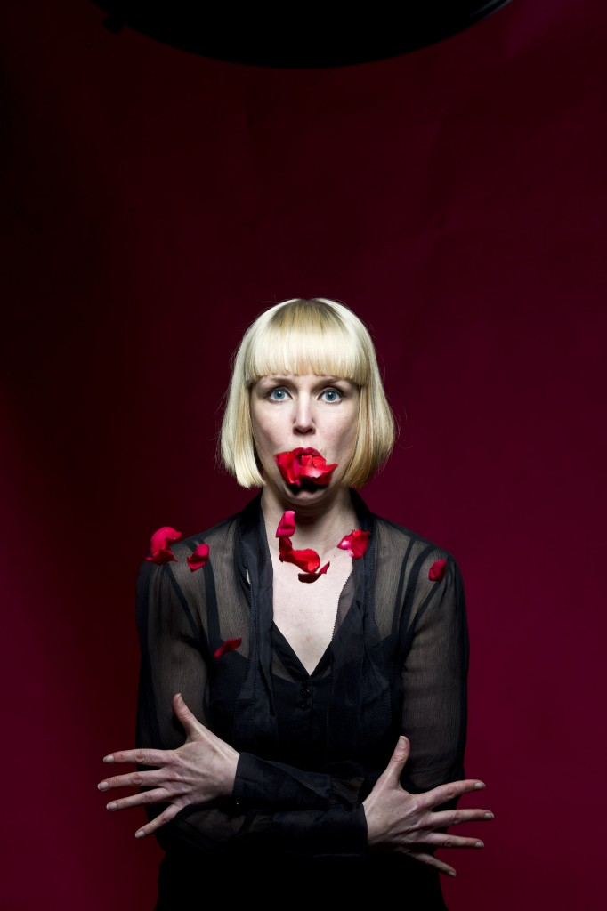 Publicity image of becc sanderson for her Passion Flower show.