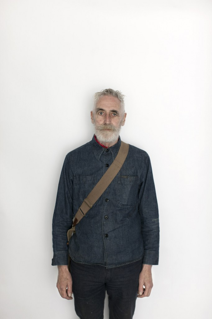 Portrait of John Byrne painter from a series of people involved at the Edinburgh Festival in Summerhall.