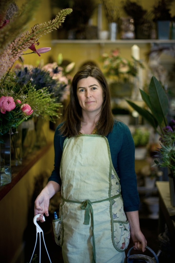 Photograph by Peter Dibdin Photographer of Monica Higgins, Florist part of the series Marchmont Traders