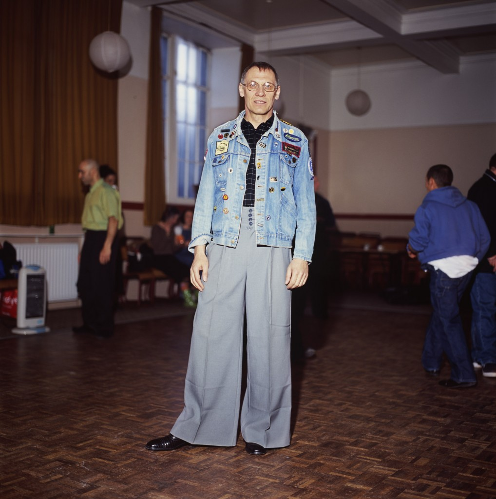 A Photograph by Peter Dibdin Photographer of a Northern Soul dancer back stage waiting to perform