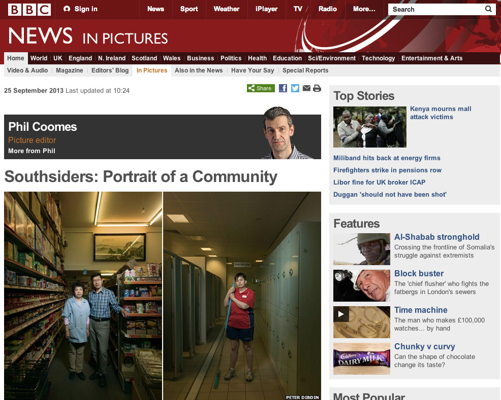 The BBC Website's article on Southsiders, portrait of a community.