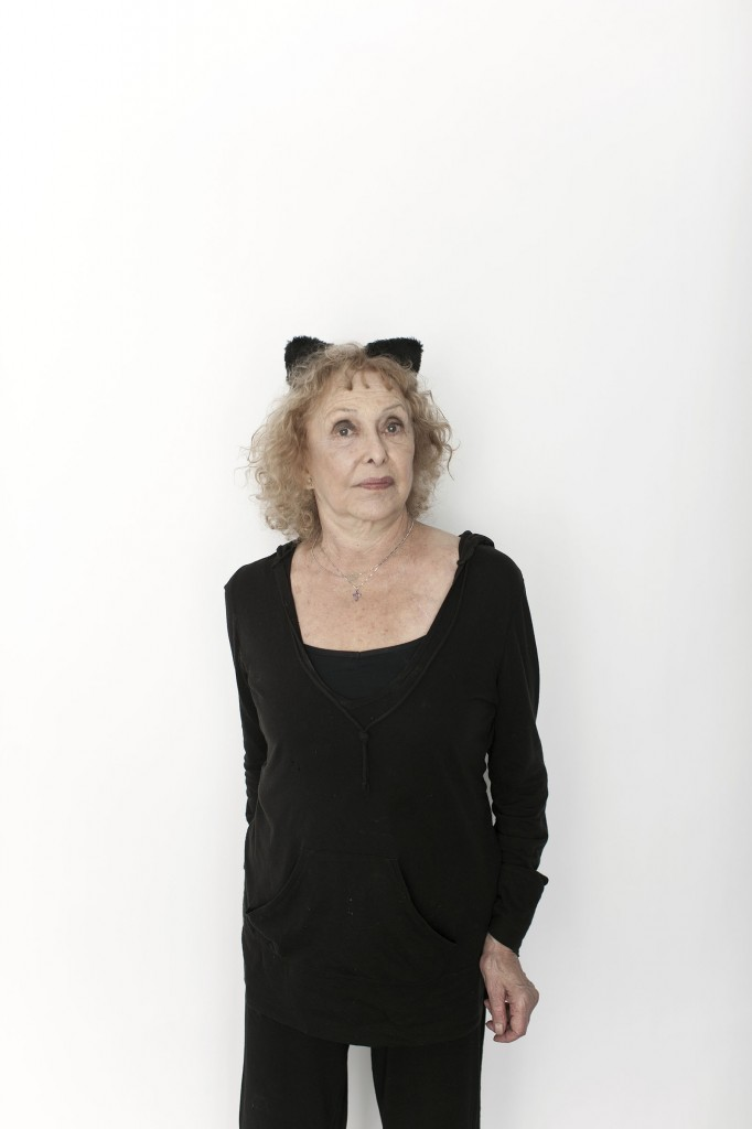 Portrait of Carolee Schneemann, artist from a series of people involved at the Edinburgh Festival in Summerhall.