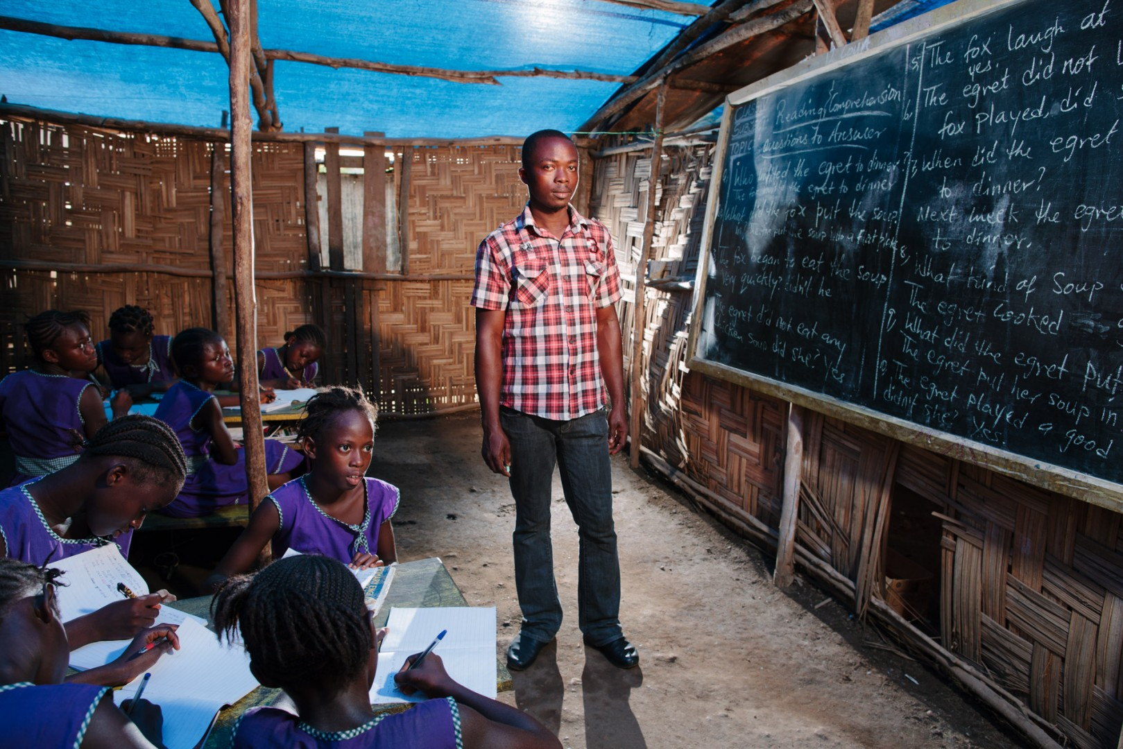 Charles James Quee, teacher at the Swawou School.