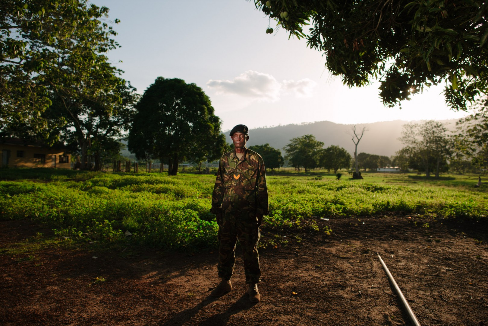 Cpl Sidie Vandi. The 2nd Infantry are neighbours to the location of the new Swawou School.