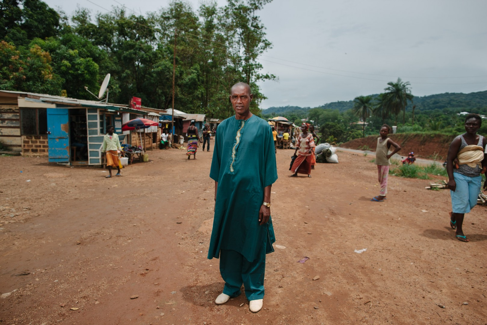 Chief Mohamed Jalloh, Chief of the area where the new Swawou School is being built.