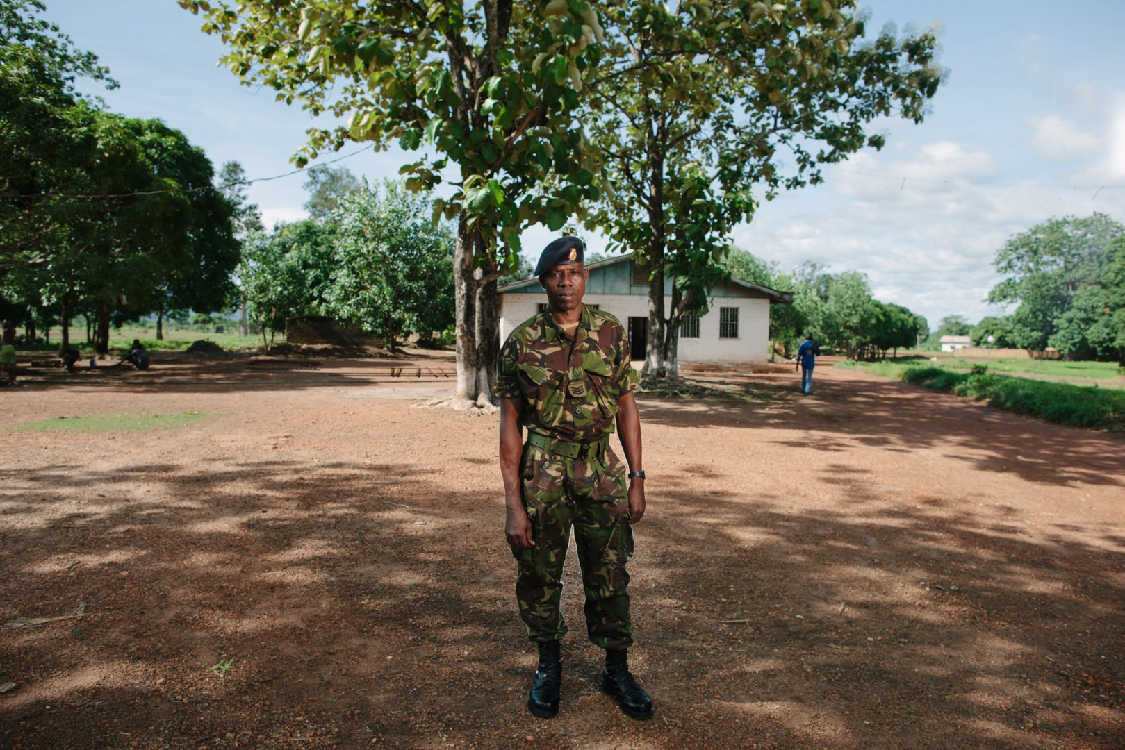 Sgt Edward Kamara, from the battalion based next to where the new school is being built.