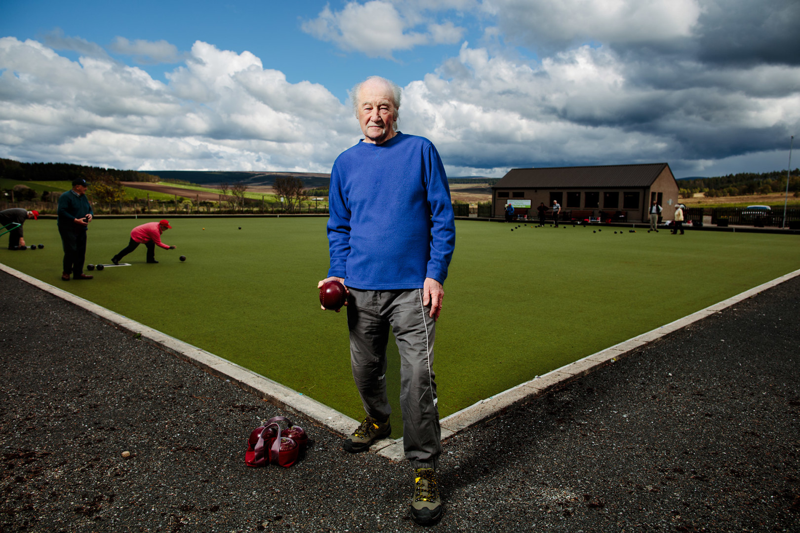 Michael Budd, Tomintoul & Glenlivet Outdoor Bowling Club, Moray.