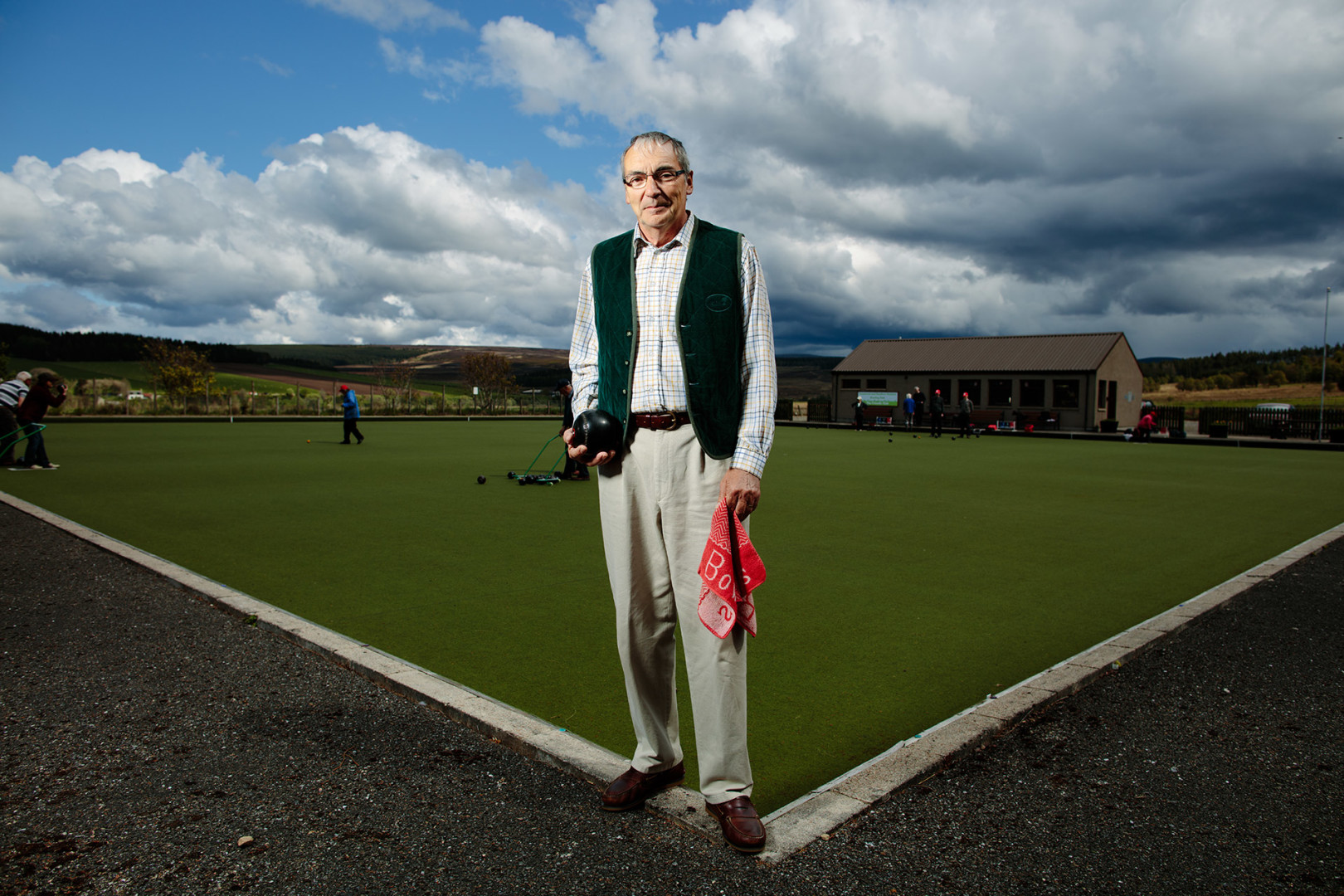 Chairman of the Tomintoul & Glenlivet Outdoor Bowling Club, Moray.