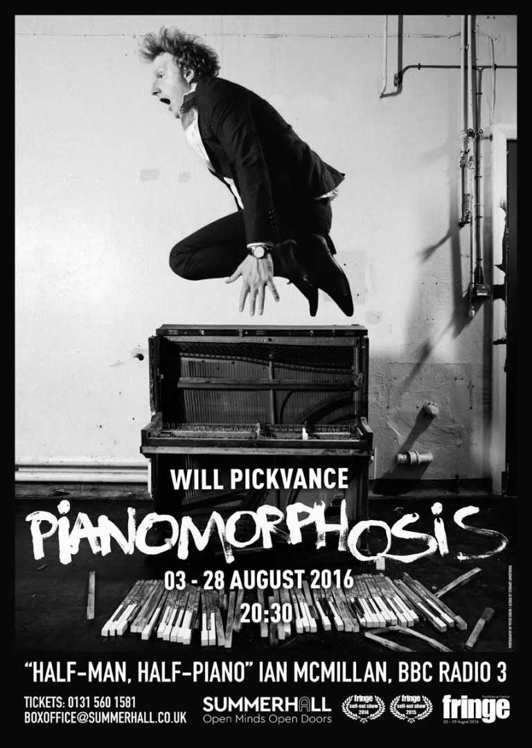 One of the final posters for Will's show, Pianomorphosis