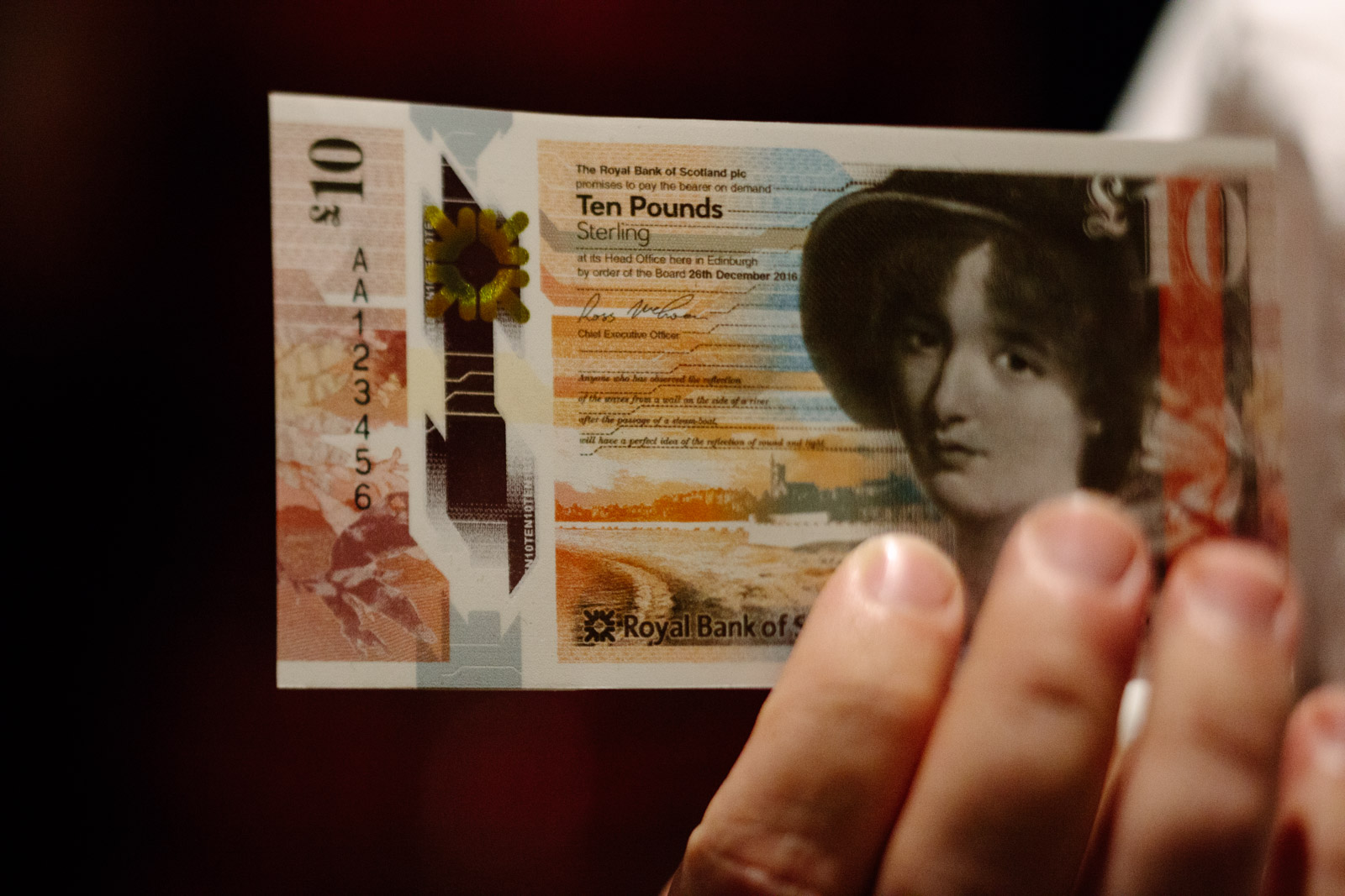 Royal Bank of Scotland's new ten pound note
