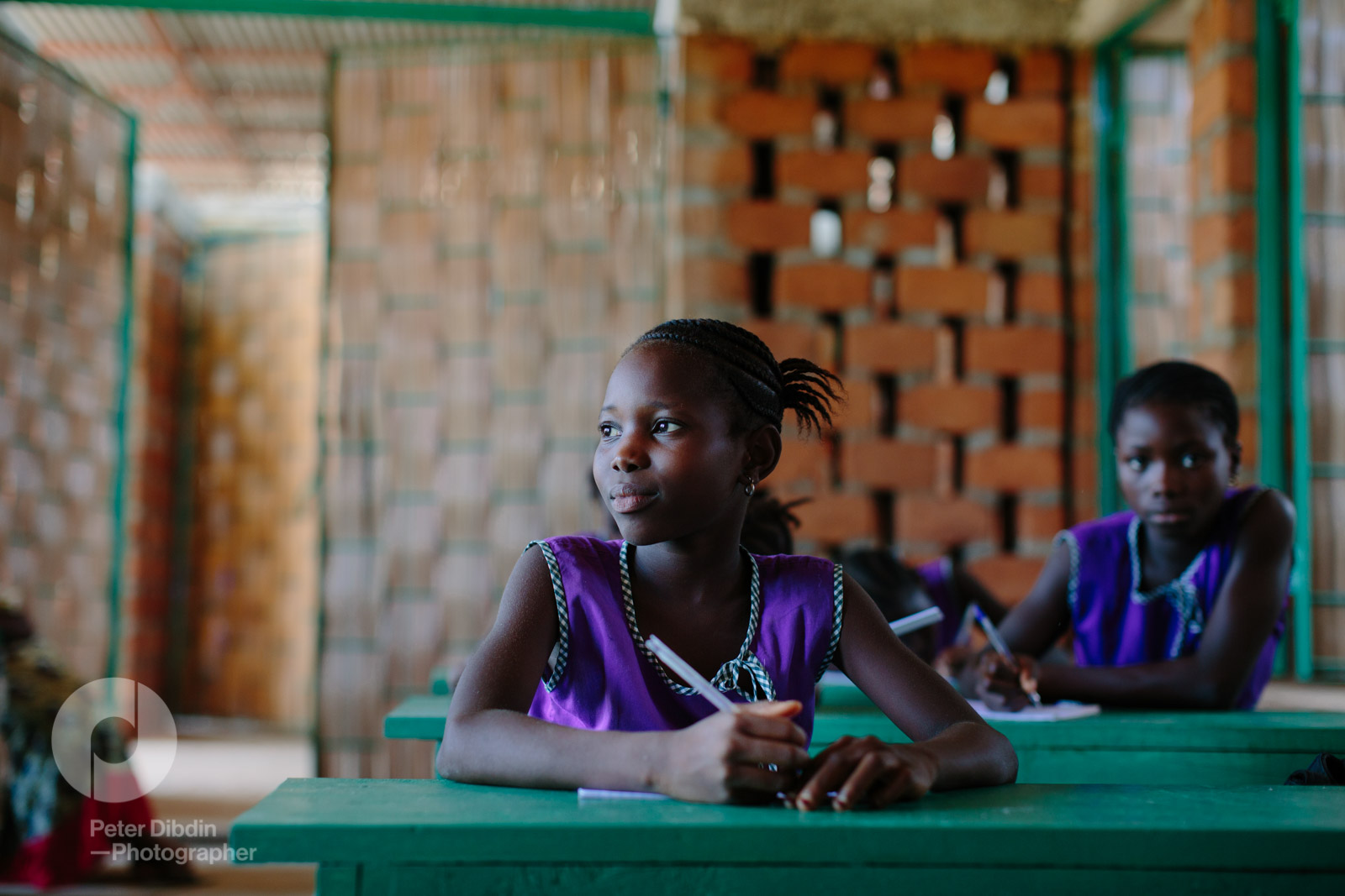 Studying at Swawou School, Sierra Leone.