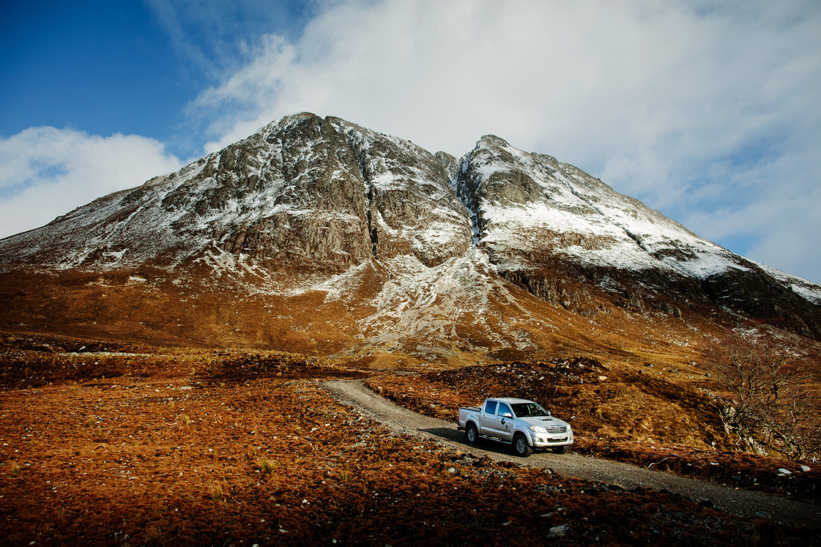 Car in the Highlands