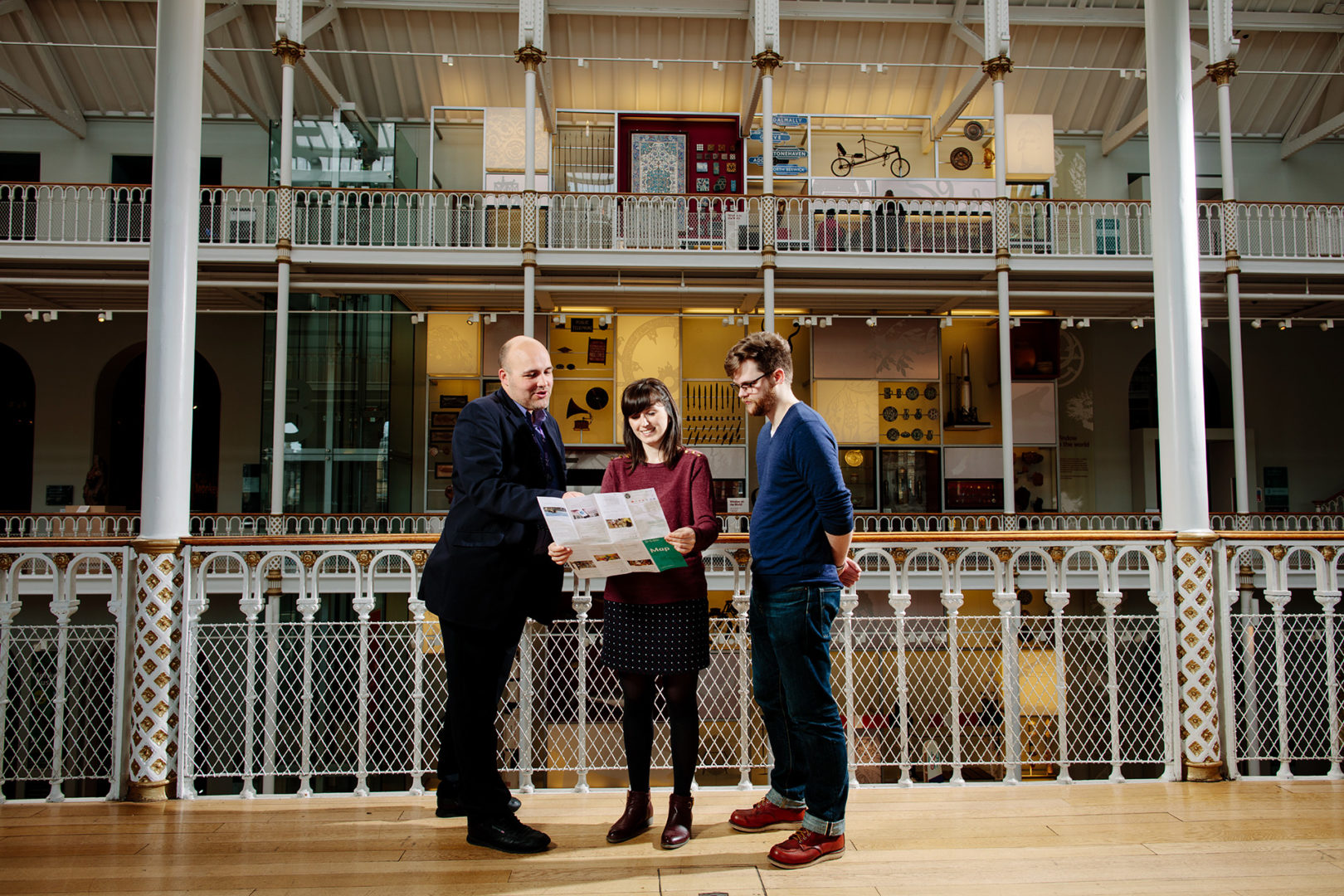 Publicity shot in the Grand Gallery at the National Museum of Scotland
