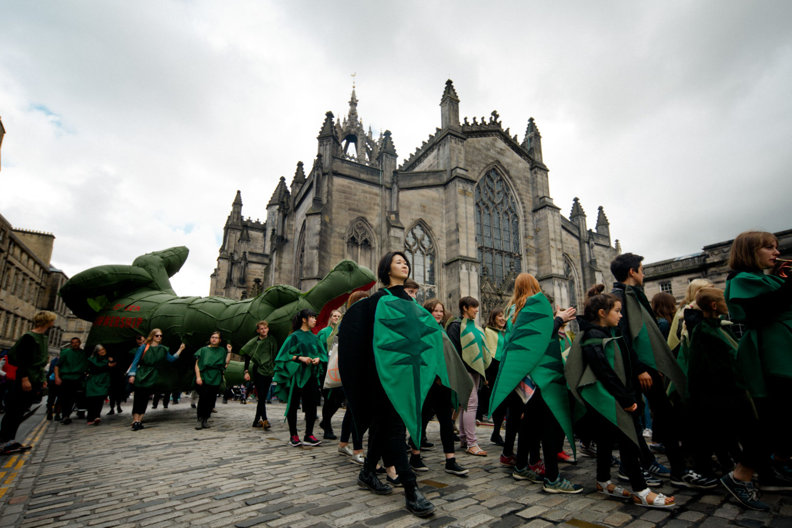 The procession on the Royal Mile