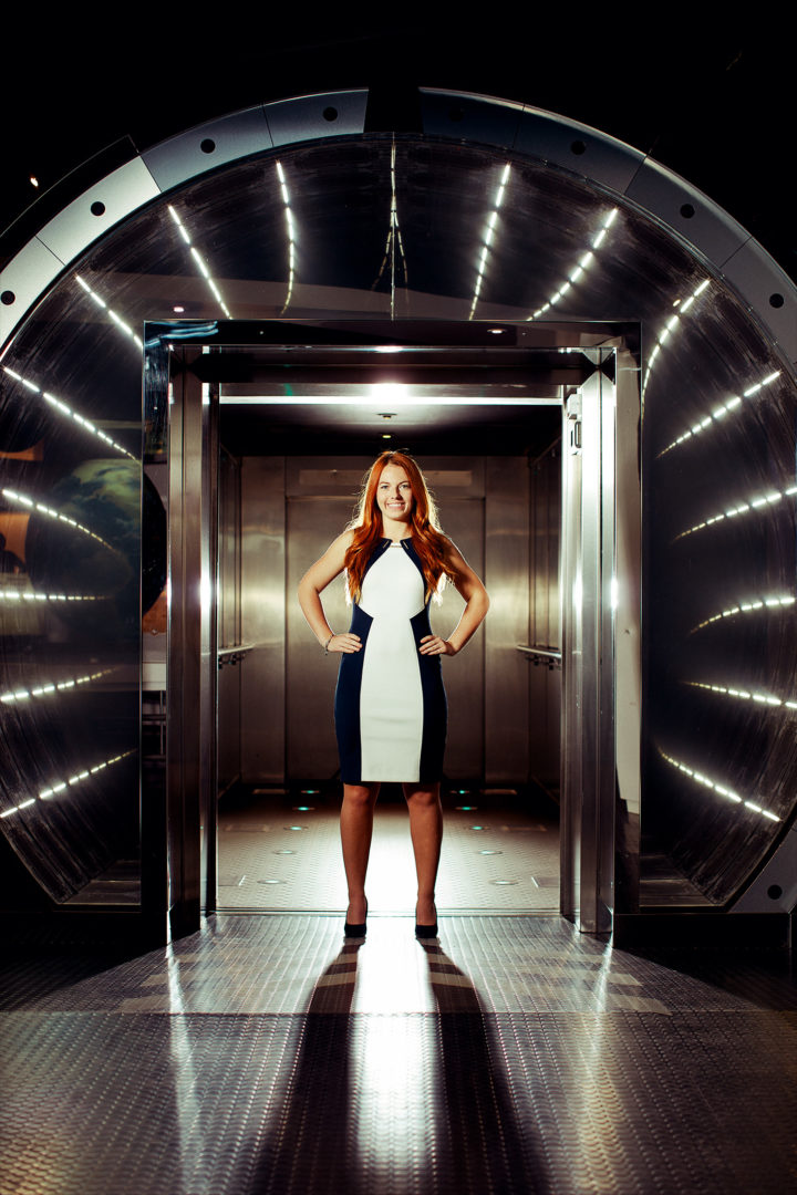 Portrait of Jackie Bell, scienist and entrant to the BBC's Do you have what it takes to be an Astronaught program.