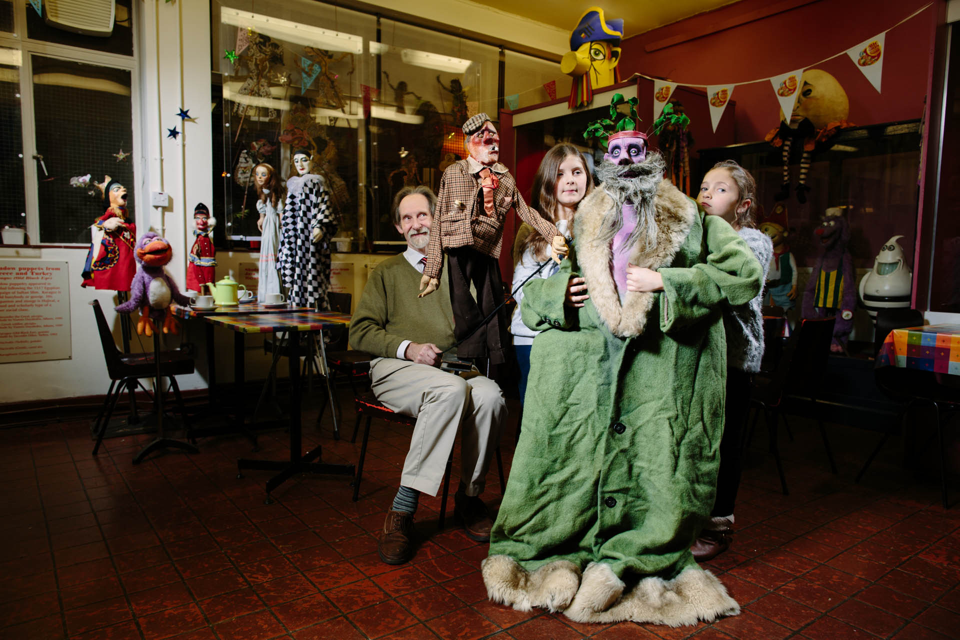 Portrait of Puppets at the Glasgow Puppet Centre, part of a series of portraits of different communities commissioned by the National Theatre of Scotland.