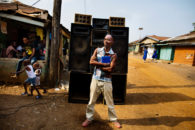 DJ and Soundsystem, Kenema, Sierra Leone. Personal work