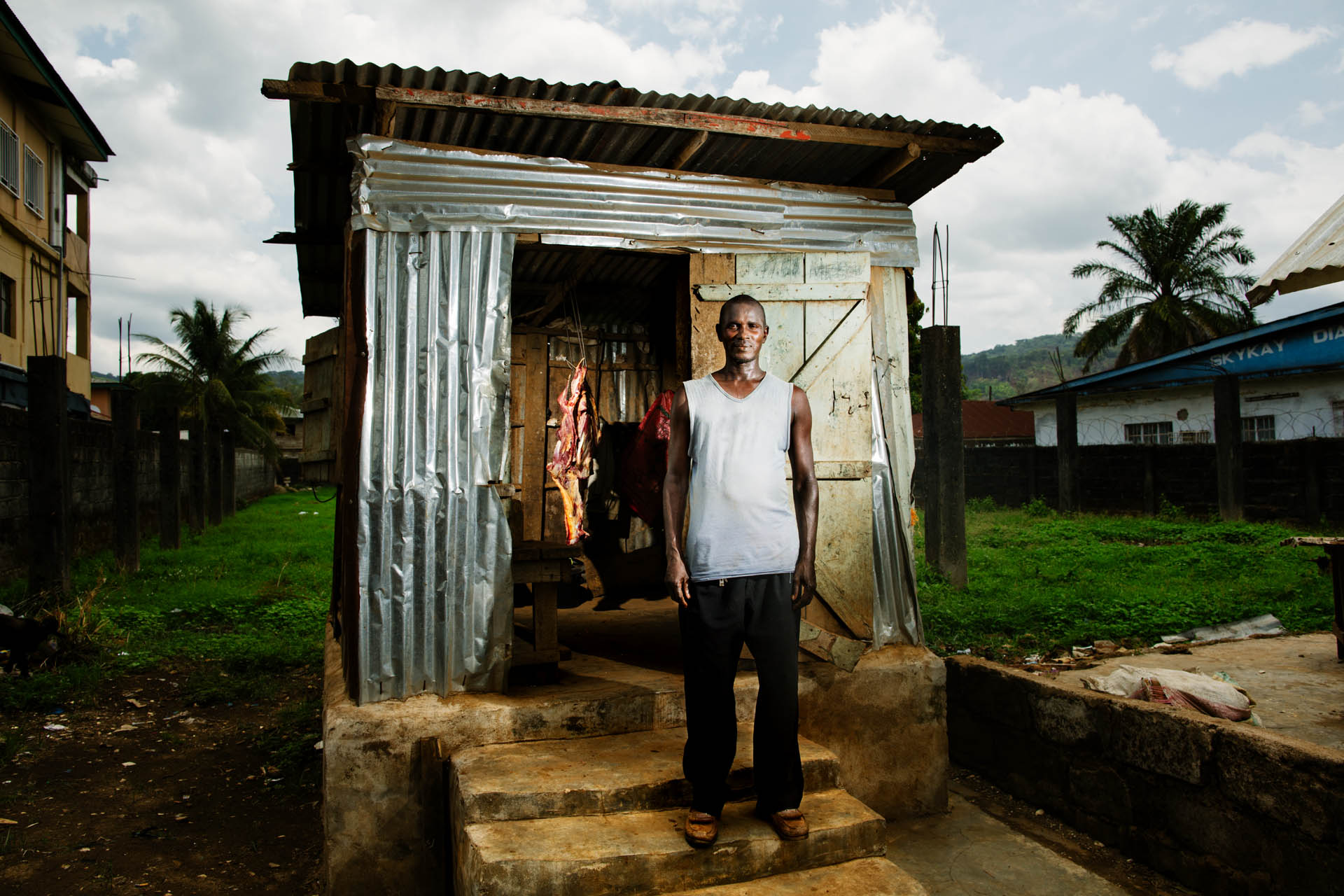Butchers, Kenema, Sierra Leone. Personal work